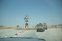"Entering the Afghan Army side of the former base ""Mike Spann"""